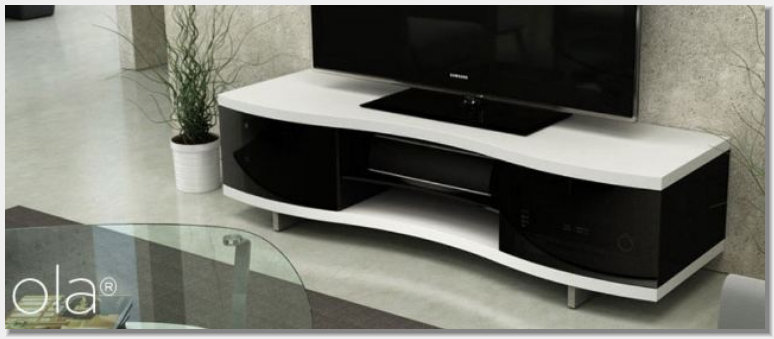 BDI Ola Console Satin White finish